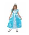 Blauw sprookjes prinses kostuum voor meisjes