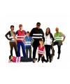 Blauw team vest voor kinderen
