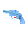 Blauw transparant waterpistool 13 cm