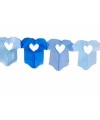 Blauwe baby slinger met rompertjes