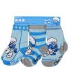 Blauwe baby sokken smurfen 3 pak