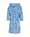 Blauwe badjas voetbal voor jongens