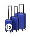 Blauwe dunlop grote reiskoffer 65 cm