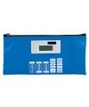 Blauwe etui met rekenmachine