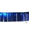Blauwe glitter franje slinger 3 meter 2 stuks