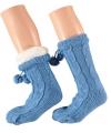 Blauwe huissokken voor dames