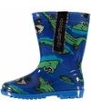 Blauwe jongens regenlaarzen met krokodillen