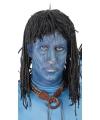Blauwe jungle strijdster pruik voor heren