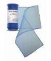Blauwe organza stof op rol 12 x 300 cm