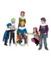 Blauwe pieten baret en cape voor kinderen