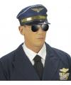 Blauwe piloten pet