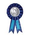 Blauwe rozet tweede prijs
