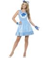 Blauwe troetelberen jurkje