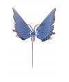 Blauwe vlinder op stok 74 cm
