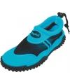 Blauwe waterschoenen met trekkoord
