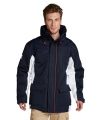Blauwe wind en waterproof heren parka jas