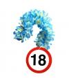 Bloemenslinger 18 jaar verkeersborden print