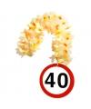 Bloemenslinger 40 jaar verkeersborden print