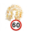 Bloemenslinger 60 jaar verkeersborden print