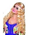 Blonde hippie pruik met haarband