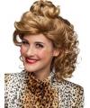 Blonde jaren 90 krullen pruik