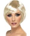 Blonde korte dames pruik