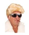 Blonde pruik met gladde coupe voor heren