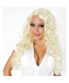 Blonde pruik met krullen britney