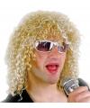 Blonde rockster pruik