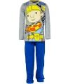 Bob de bouwer pyjama grijs met blauw
