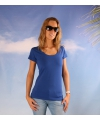 Bodyfit kobalt dames t shirt