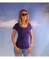 Bodyfit paars dames t shirt