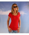 Bodyfit rood dames t shirt