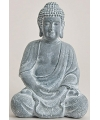 Boeddha beeld blauw grijs 30 cm