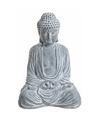 Boeddha beeld blauw grijs 41 cm