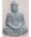 Boeddha beeld blauw grijs 55 cm
