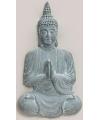 Boeddha beeld blauw grijs 80 cm