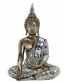 Boeddha beeld brons zilver 33 cm