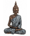 Boeddha beeld brons zilver 40 cm