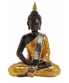 Boeddha beeld bruin goud 30 cm