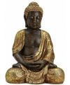 Boeddha beeld bruin goud 42 cm