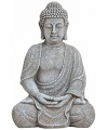 Boeddha beeld grijs 30 cm