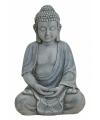 Boeddha beeld grijs 31 cm