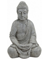 Boeddha beeld grijs 50 cm