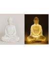 Boeddha beeld met led verlichting 22 cm