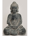Boeddha beeld oud zwart 34 cm