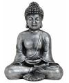 Boeddha beeld zilver 24 cm