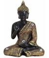 Boeddha beeld zwart goud 11 cm type 1