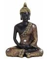 Boeddha beeld zwart goud 11 cm type 2