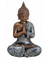 Boeddha beeldje brons zilver type 2 18 cm